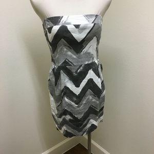 Banana Republic strapless linen Gray dress